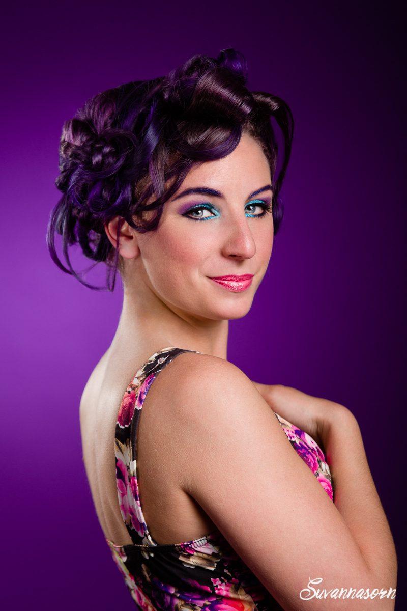 suvannasorn maquillage violet beauté femme genève maquilleuse artiste photographe