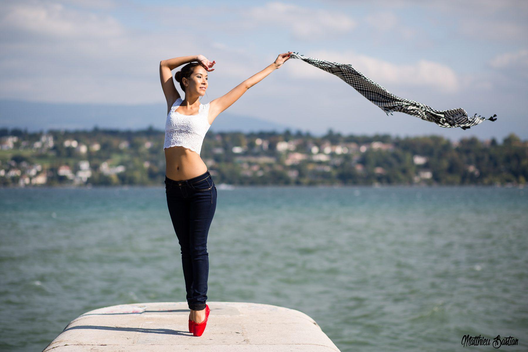 jenny suv femme modèle mannequin genève maquillage maquilleuse coiffeuse danse lac ballet