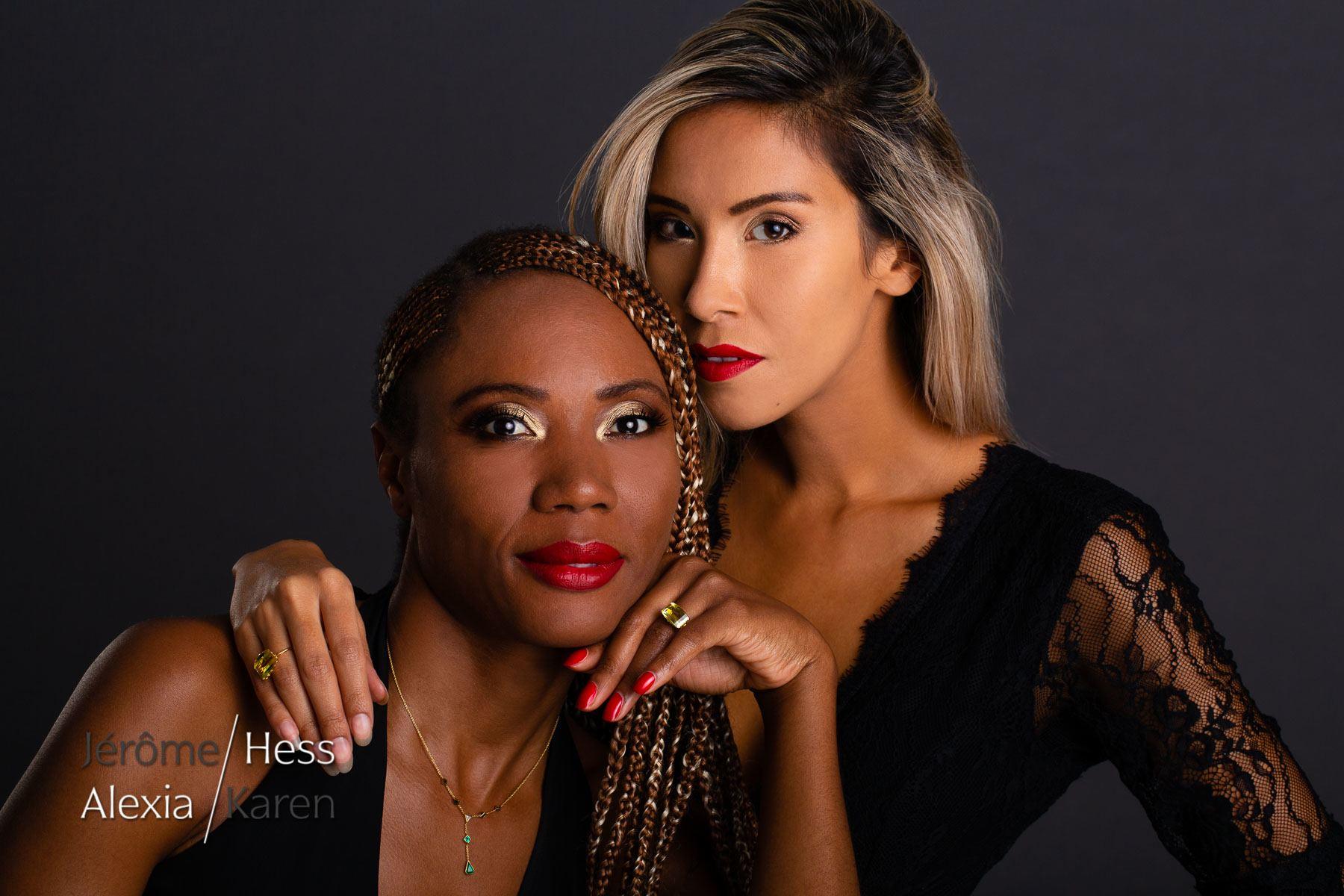 modèle mannequin genève suisse portrait bijoux karen alexia duo femmes beauté close up jerome hess