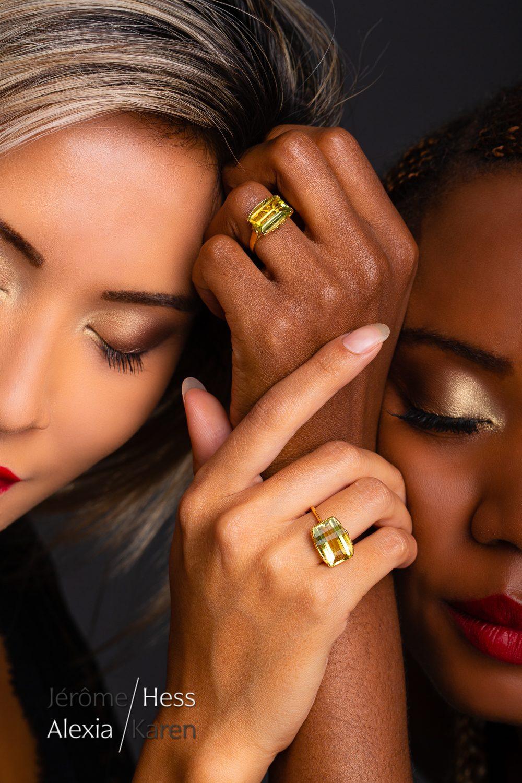 modèle mannequin genève suisse portrait bijoux karen alexia duo femmes beauté close up